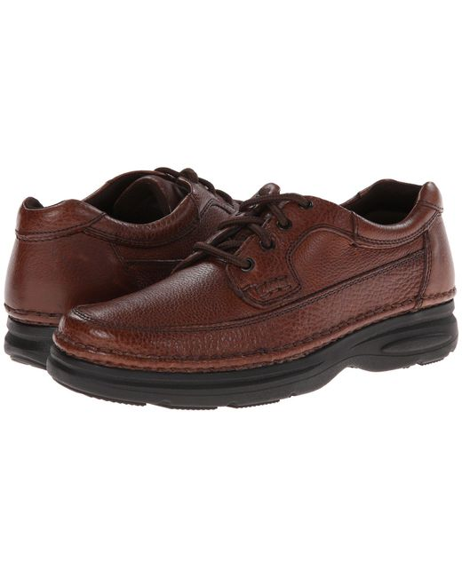 Nunn Bush - Multicolor Cameron Comfort Walking Oxford (brown Tumbled Leather) Men's Lace Up Moc Toe Shoes for Men - Lyst