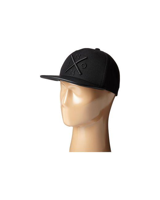 Nixon | Black Exchange Snap Back Hat for Men | Lyst