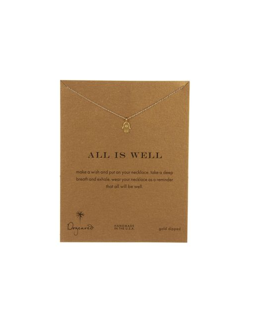 Dogeared | Metallic All Is Well Hamsa Reminder Necklace | Lyst