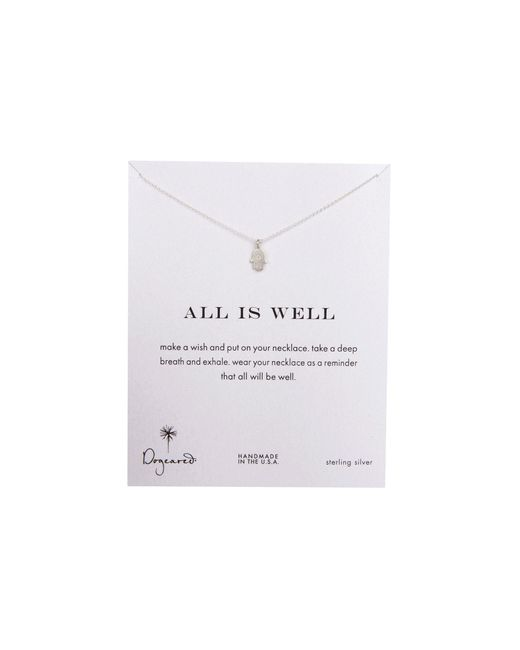 Dogeared   Metallic All Is Well Hamsa Reminder Necklace   Lyst