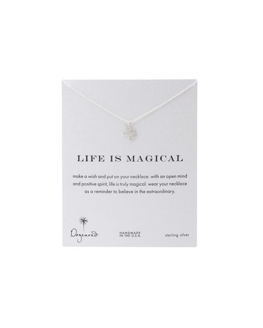 Dogeared   Metallic Life Is Magial Unicorn Reminder Necklace   Lyst