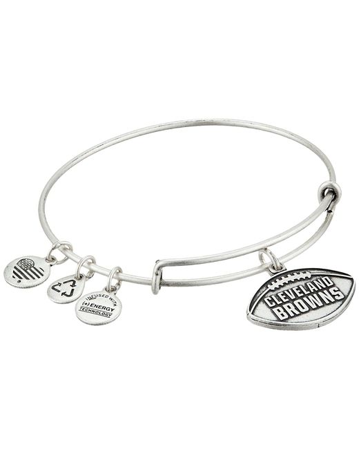 ALEX AND ANI - Metallic Nfl Cleveland Browns Football Bangle - Lyst