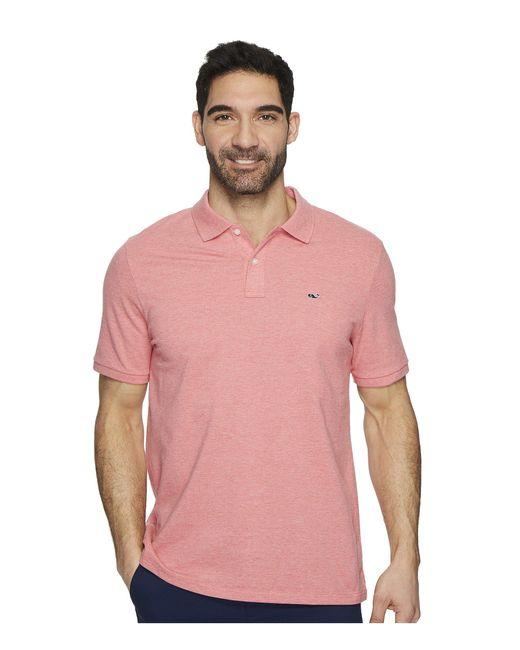 Vineyard Vines - Pink Stretch Pique Heather Polo (moonshine) Men's Clothing for Men - Lyst