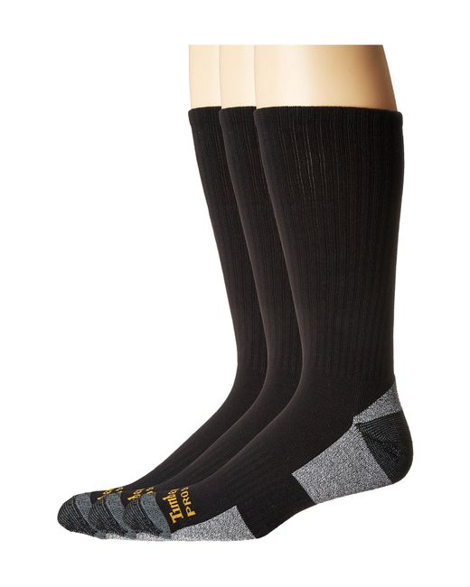 Timberland - Black Poly Crew (white) Men's Crew Cut Socks Shoes for Men - Lyst