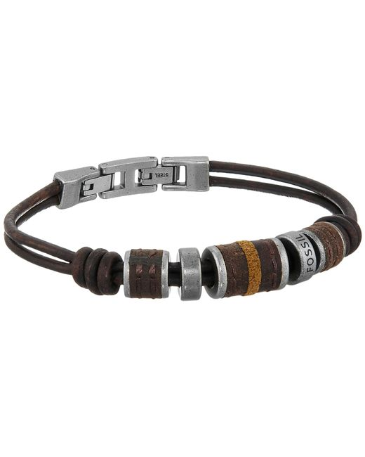 Fossil | Metallic Rondell Leather Bracelet | Lyst
