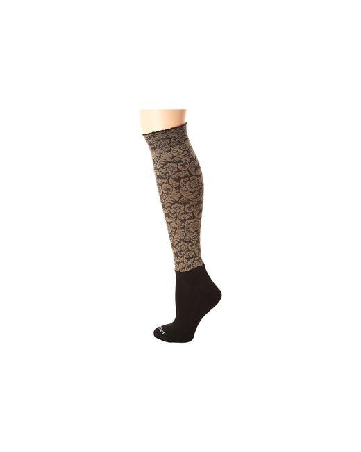 Bootights | Black Dakota Vintage Floral Knee High/ankle Sock | Lyst