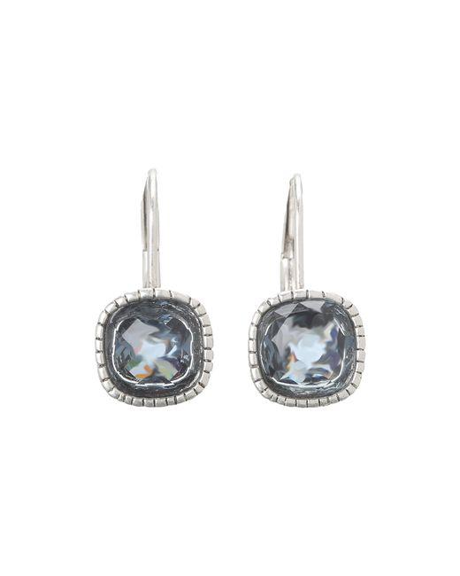 The Sak | Blue Cushion Stone Leverback Earrings | Lyst