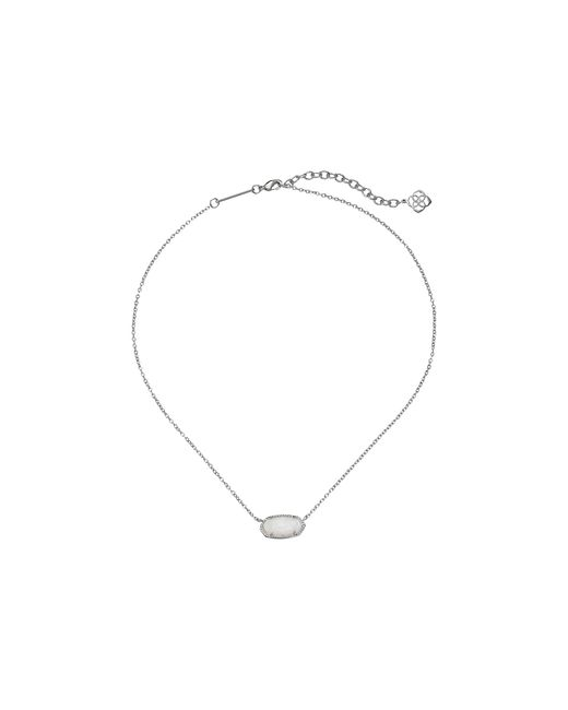 Kendra Scott | White Elisa Pendant Necklace | Lyst