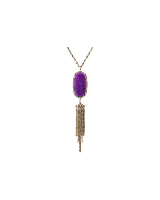 Kendra Scott | Purple Rayne Necklace | Lyst