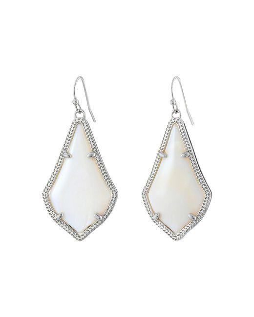 Kendra Scott | White Alex Earring | Lyst