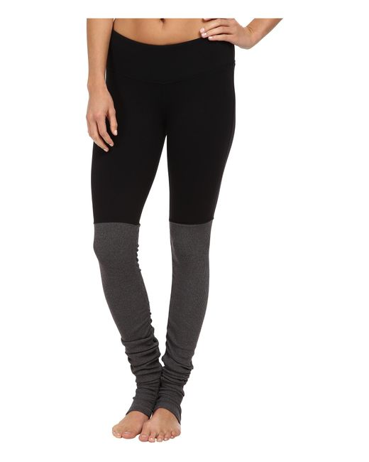 Alo Yoga | Black Goddess Ribbed Legging | Lyst
