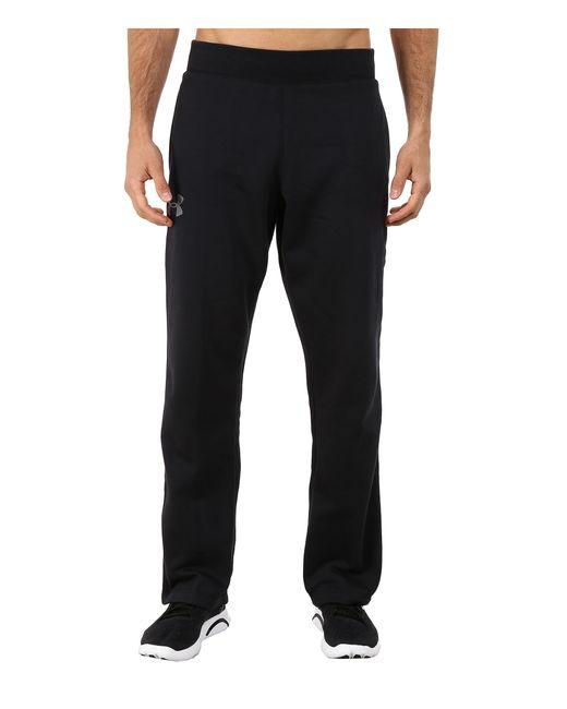 Under Armour | Black Ua Rival Cotton Pant for Men | Lyst