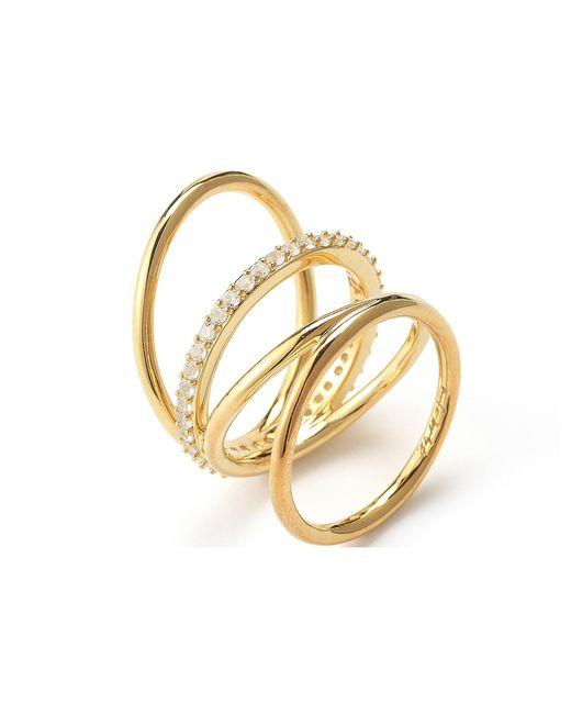 Elizabeth and James | White Mondrian Ring | Lyst
