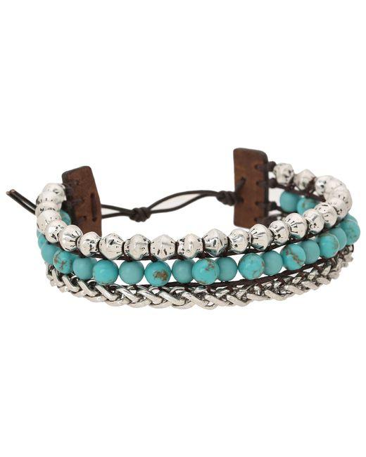 Lucky Brand | Blue Faux Wrap Bracelet | Lyst