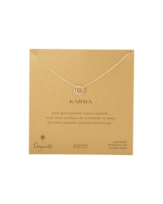 Dogeared | Metallic Triple Karma Ring Sparkle Chain Necklace | Lyst
