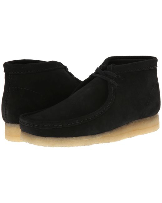 Clarks | Wallabee Black Suede Boot for Men | Lyst