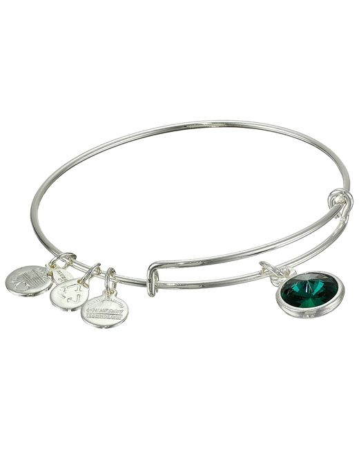 ALEX AND ANI | Metallic May Birthstone Charm Bangle | Lyst