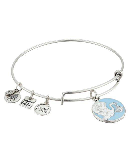 ALEX AND ANI | Metallic Blue Special Delivery Charm Bangle | Lyst
