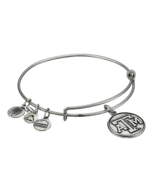 ALEX AND ANI | Metallic Texas A&m University® Logo Charm Bangle | Lyst