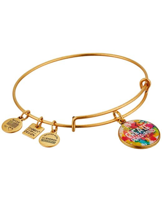 ALEX AND ANI   Red Peace Of Mind Charm Bangle   Lyst