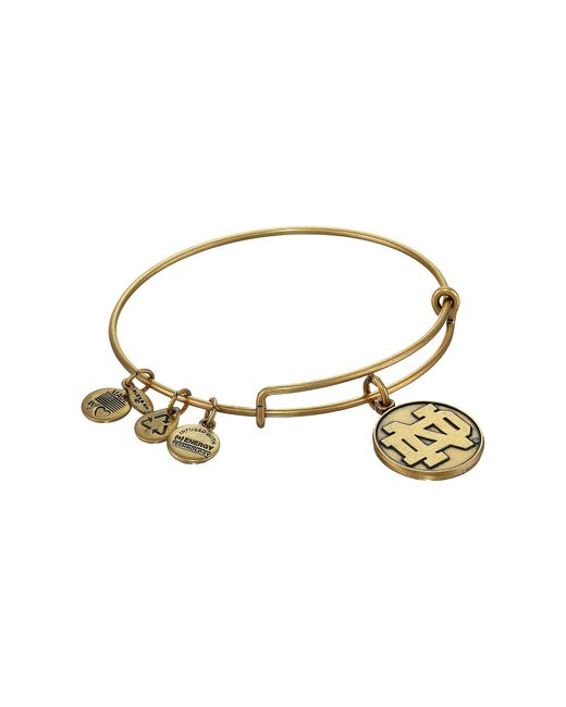 ALEX AND ANI | Metallic University Of Notre Dame Logo Charm Bangle | Lyst