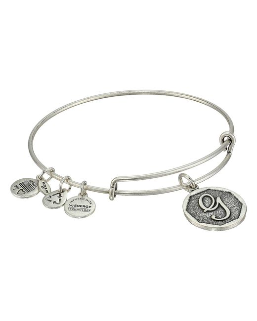 ALEX AND ANI | Metallic Initial G Charm Bangle | Lyst