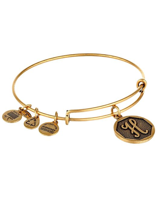 ALEX AND ANI | Metallic Initial H Charm Bangle | Lyst