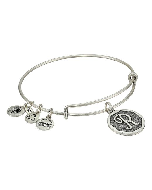 ALEX AND ANI | Metallic Initial R Charm Bangle | Lyst