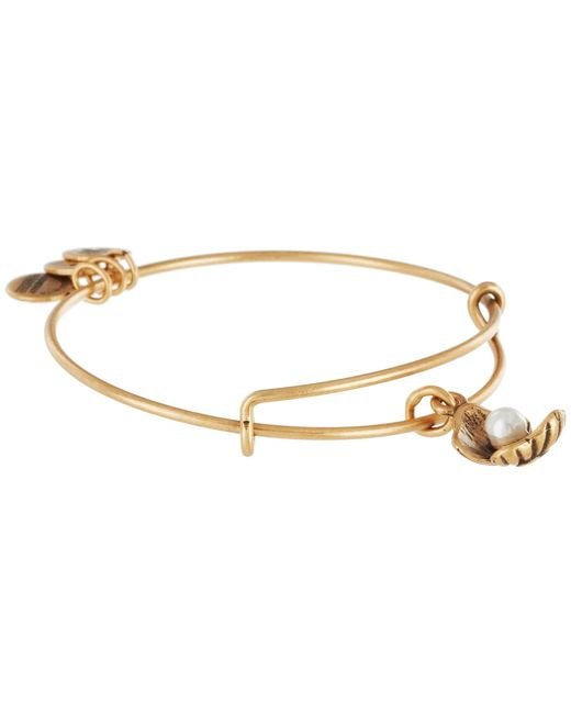 ALEX AND ANI | Metallic Oyster Charm Bangle | Lyst