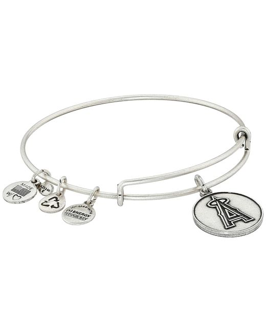ALEX AND ANI | Metallic Mlb® Los Angeles Angelstm Charm Bangle | Lyst