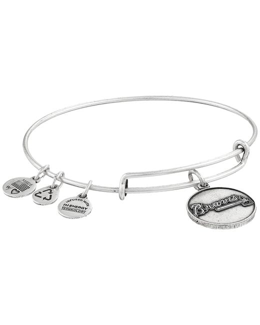 ALEX AND ANI | Metallic Mlb® Atlanta Braves Charm Bangle | Lyst