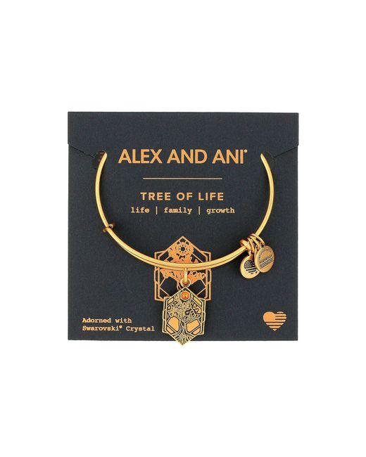 ALEX AND ANI - Metallic Path Of Symbols - Tree Of Life Iv Bangle (rafaelian Gold) Bracelet - Lyst