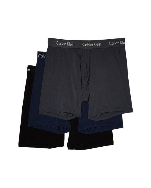 Calvin Klein - Blue 3-pack Body Modal Boxer Brief (black) Men's Underwear for Men - Lyst