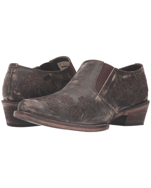 Roper - Emerson (brown Sanded Leather) Women's Slip On Shoes - Lyst