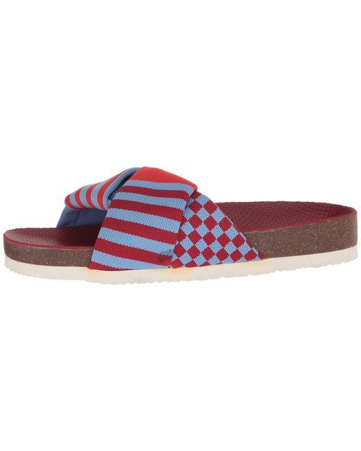 f7863eb2631c ... Tory Sport - Red Tech Knit Slide (golf Green multicolor) Women s Slide  Shoes ...