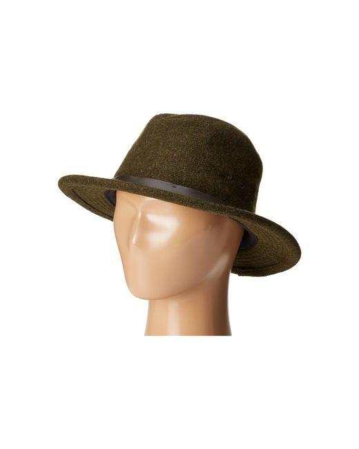 Filson Packer Hat: Filson Wool Packer Hat In Green For Men