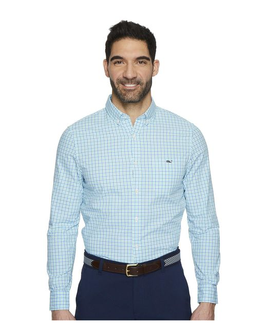 Vineyard Vines - Blue Tipsy Turtle Check Slim Tucker Shirt for Men - Lyst