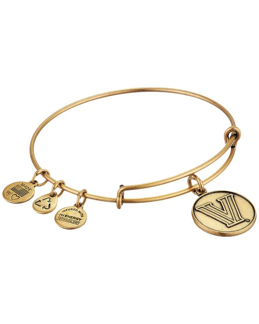 ALEX AND ANI | Metallic Villanova University® Logo Charm Bangle | Lyst