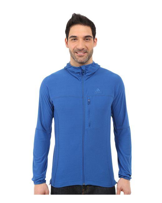 Adidas Originals   Blue Terrex Swift 37.5 Fleece Hoodie for Men   Lyst