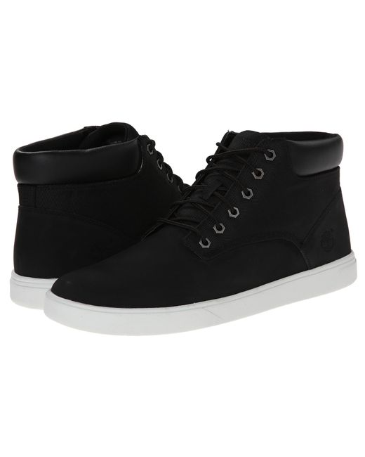 Timberland | Black Groveton Plain Toe Chukka Leather And Fabric for Men | Lyst