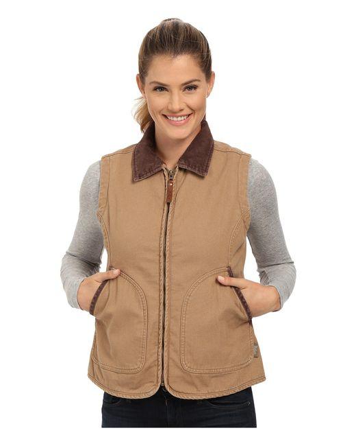 Woolrich | Brown Dorrington Vest | Lyst