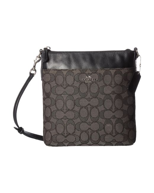 COACH | Gray Signature North/south Swingpack | Lyst