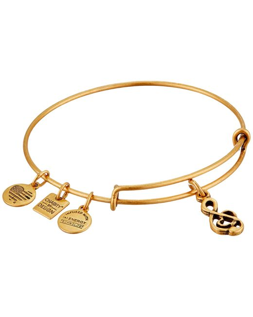 ALEX AND ANI | Metallic Sweet Melody Charm Bangle | Lyst