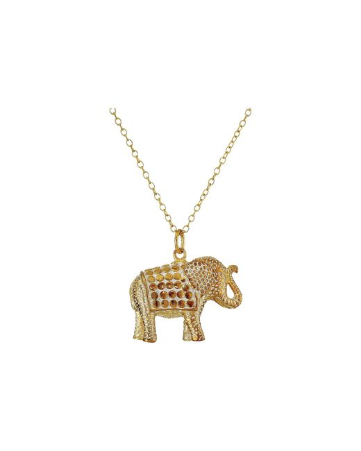 "Anna Beck | Metallic Elephant Pendant Necklace W/ 30"" Chain 