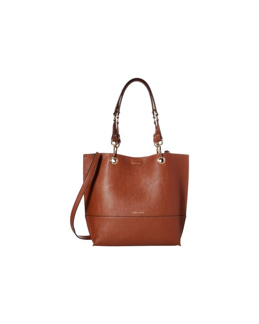 Calvin Klein | Brown Unlined Tote | Lyst