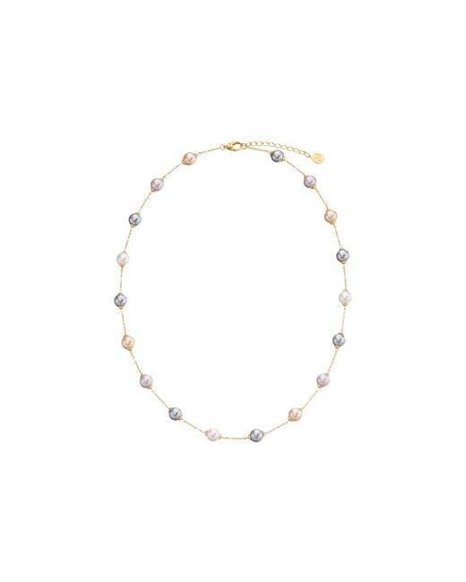 Majorica | Metallic 18/8mm Illusion Necklace | Lyst