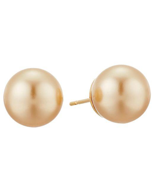 Majorica | Metallic 10mm Ss Stud Earrings | Lyst