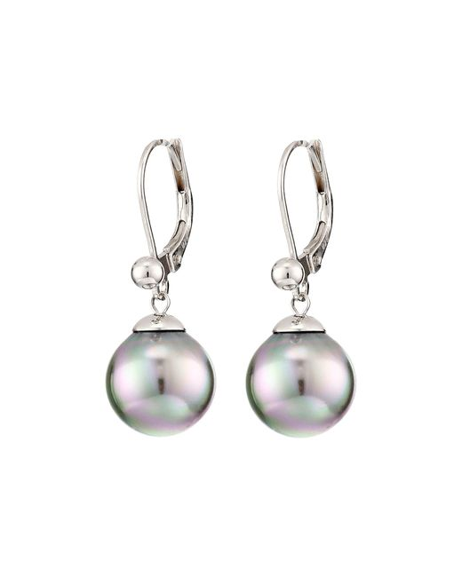 Majorica | Metallic 10mm S.s.w. Drop E/w Earrings | Lyst