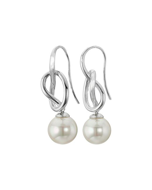Majorica | Metallic 10mm Round Knot Earrings | Lyst