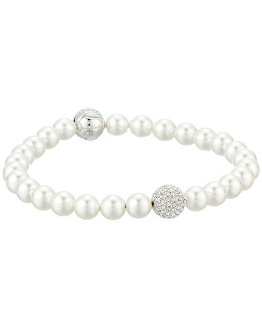 Swarovski - Remix Collection Pearl Bracelet (white) Bracelet - Lyst
